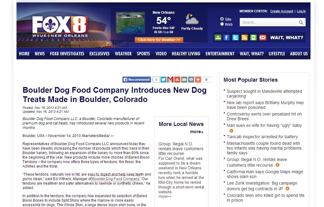 Send Press Release to Fox, ABC, CBS, CW, NBC
