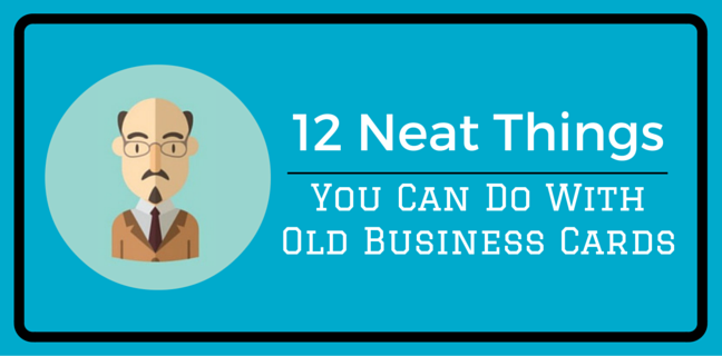 12 neat things you can do with old business cards marketersmedia blog is it time to update your business cards maybe youve been promoted to a new position your contact information has changed youve updated your companys colourmoves