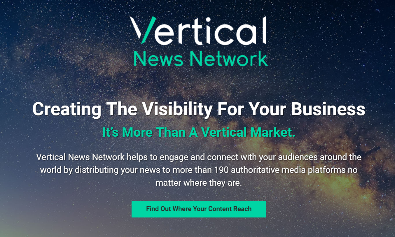 Vertical News Network (VNN) landing page