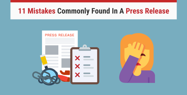 11 Mistakes Commonly Found In A Press Release