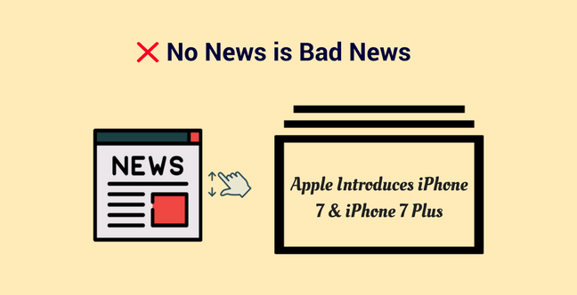 No news is bad news Press Release Mistake