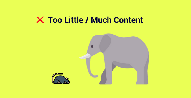 Too Little Too Much Content Press Release Mistake