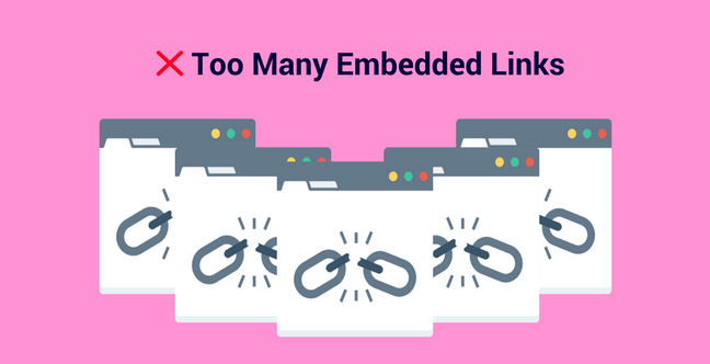 Too Many Embedded Links Press Release Mistake