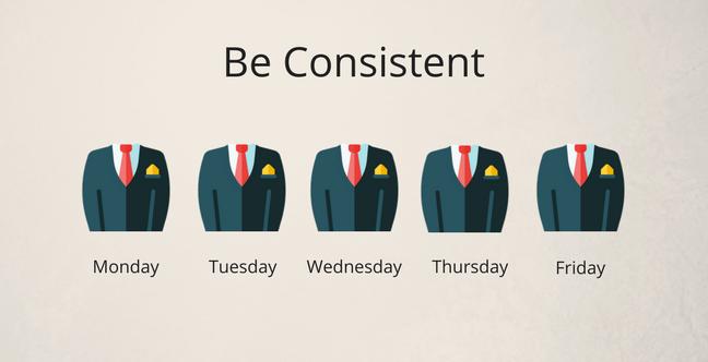 Be consistency