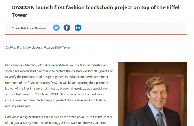 Press release example for new launch