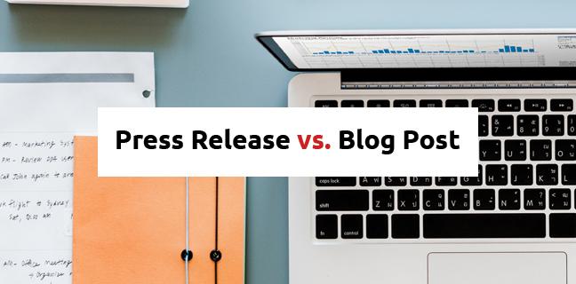 Press Release vs Blog Post