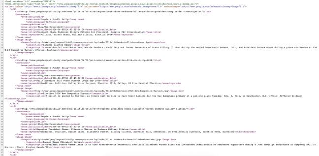 Google XML News Sitemap